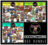 Occupations Clip Art Big Bundle {Educlips Clipart}