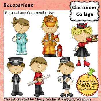 Occupations Clip Art - Color - pers & comm doctor architect police A. Smith