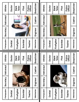 Occupations Clip Cards