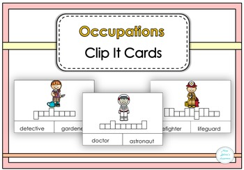 Occupations Clip It Cards