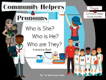 Occupations/Community Helpers Book - Who is he? Who is she?