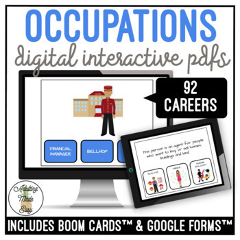 Occupations & Definitions Digital Activity