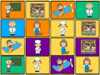 Occupations Labor Day Community Helpers Cards Flashcards