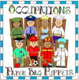 Careers Paper Bag Puppets including Community Helpers Paper Bag Puppets