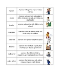 Occupations Picture and Word Sort