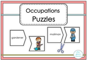 Occupations Puzzles