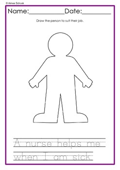 Occupations - SEN, Early Years, Tracing and Drawing activties