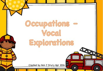 Occupations -  Vocal Explorations