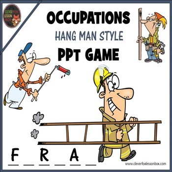 Occupations - PowerPoint Word Game