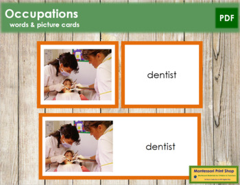 Occupations: Words and Picture Cards