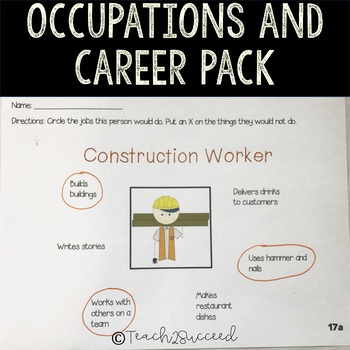 Occupations and Career Pack with Interest Inventory