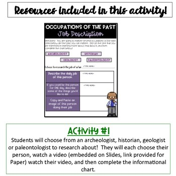Occupations of the Past Activity {Digital}
