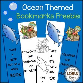 Ocean Theme Bookmarks (Free) Activities