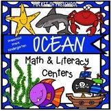 Ocean Math & Literacy Centers (Pirates too) Preschool, Pre-K, &  Kindergarten