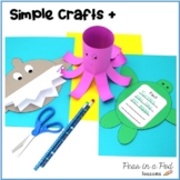 Ocean Animals Crafts and Activities kindergarten, first, & second grade