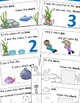 Ocean Theme Emergent Reader, Rhyme and Read, Cut and Paste Activities Book