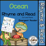 Ocean Themed Rhyming Cut & Paste Emergent Reader (Distance Learning)