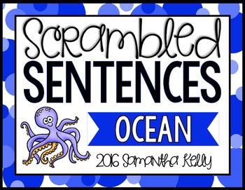 Ocean Scrambled Sentence Station