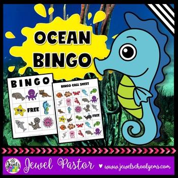 Ocean Animals Activities (Ocean Animals Science Bingo)