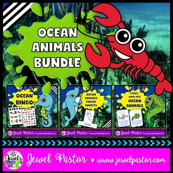 Ocean Animal Activities BUNDLE (Bingo, Crafts and Game)