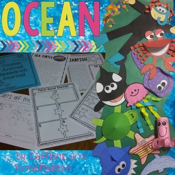 Ocean - Ocean Unit - Ocean Journal and Crafts
