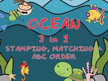 Ocean 3-in-1 Stamping, Matching & ABC ORDER