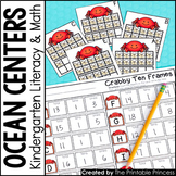 Kindergarten Ocean Centers for Math and Literacy Activities