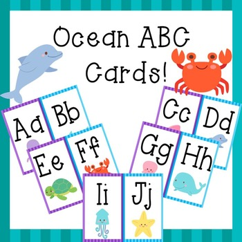 ABC Cards Ocean Theme