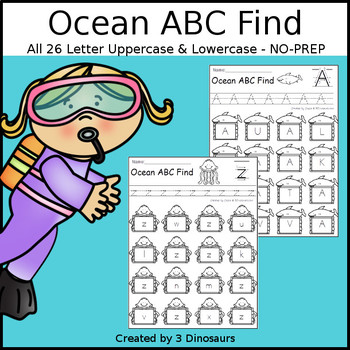 Ocean ABC Letter Find