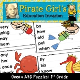 Ocean ABC Puzzles (dolch 1st grade)