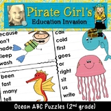 Ocean ABC Puzzles (dolch 2nd grade)