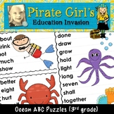 Ocean ABC Puzzles (dolch 3rd grade)