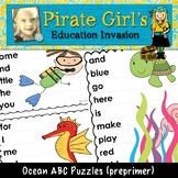 Ocean ABC Puzzles (dolch preprimer)