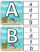 Ocean ABC Upper and Lower Case Clothespin Cards