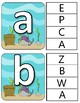 ABC Upper and Lower Case Clothespin Cards - Ocean Theme
