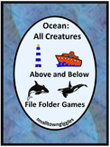 Ocean Animals File Folder Games, Summer Special Education, Summer Review