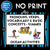 No Print Speech Therapy Expanding Sentences at the Ocean