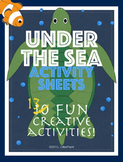 Ocean Activity Printables Set of 13.