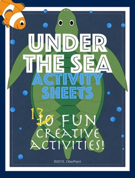 Ocean Activity Printables Set of 13.