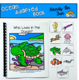 """Ocean Adapted Book And Vocabulary Activities:  """"Who Lives in the Ocean?"""""""