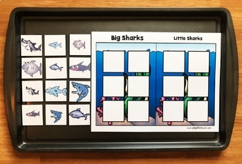 "Ocean Adapted Book and Vocabulary Activities:  ""The Big Big Shark"""