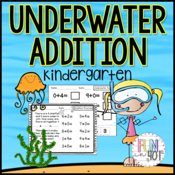 Common Core: Ocean Themed Addition Worksheets