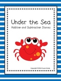Ocean Addition & Subtraction Word Problem Book