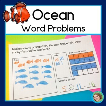 Ocean Addition and Subtraction Word Problems