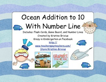 Ocean Addition to 10 with Number Line