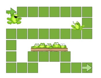Frog Addition to 10 with Number Line