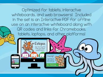 Ocean Adventure - Interactive PDF game to identify Rhythm
