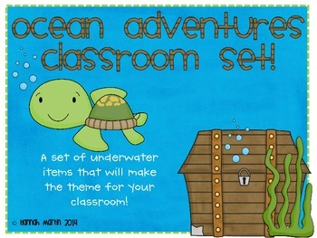 Ocean Adventures Classroom Set!