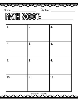Ocean Adventures Math Scoot Sample {FREEBIE}