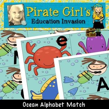 Ocean Alphabet Matching Game